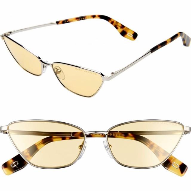 史上一番安い マーク ジェイコブス MARC JACOBS レディース メガネ・サングラス 57mm Cat Eye Sunglasses Silver/Yellow, アロマルーム bae44ce8