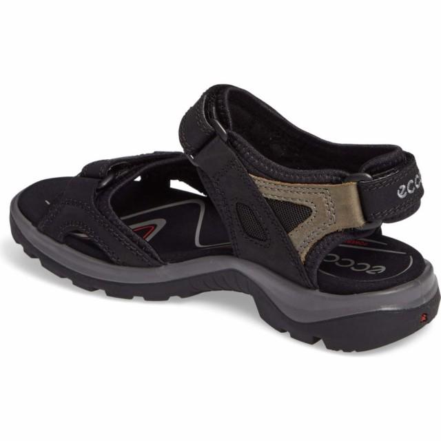 本物保証!  エコー ECCO レディース サンダル・ミュール シューズ・靴 Yucatan Sandal Black/Mole, 飯豊町 544942c9