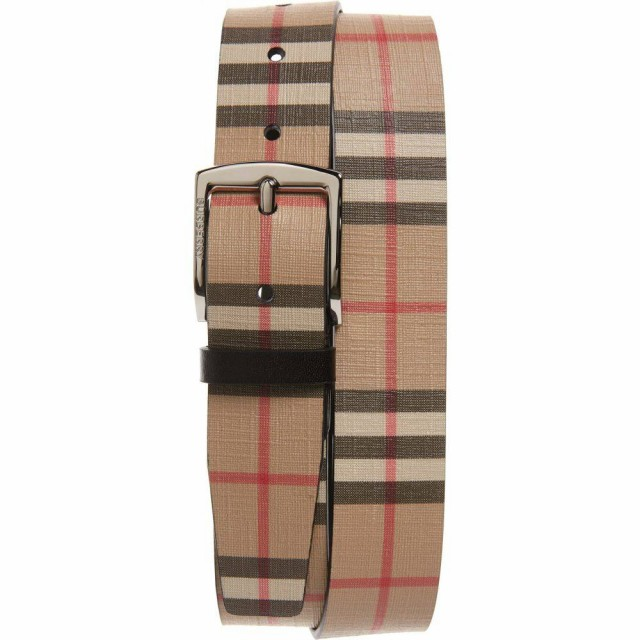 格安販売中 バーバリー BURBERRY メンズ ベルト Check Belt Archive Beige, ピンクプードル 3ee3059f