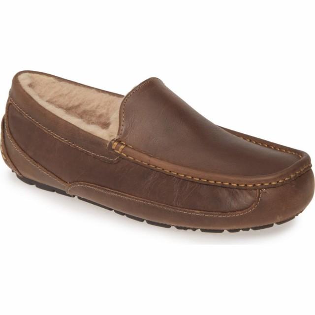人気TOP スリッパ Ascot Tan シューズ・靴 UGG Slipper メンズ アグ Leather-靴・シューズ