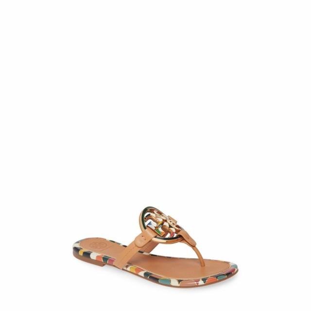 最新最全の シューズ・靴 Aged ビーチサンダル レディース Vachetta Miller BURCH バーチ Flop Logo TORY Enamel トリー Flip-靴・シューズ