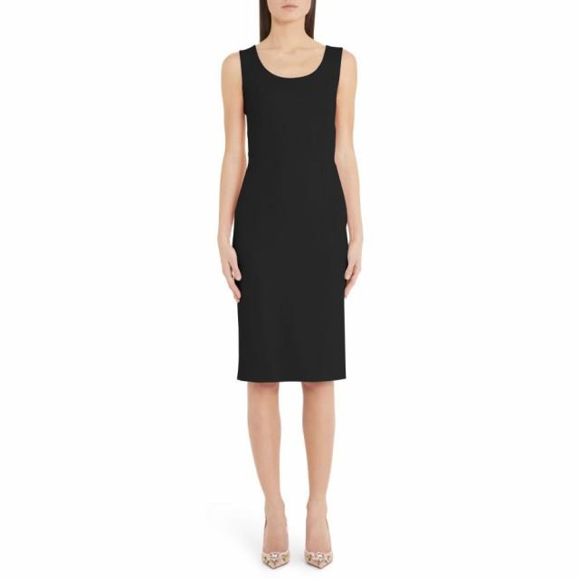 【激安セール】 ワンピース・ドレス Scoop DOLCE&GABBANA ドルチェ&ガッバーナ Neck レディース Sheath Black ワンピース Dress-ワンピース