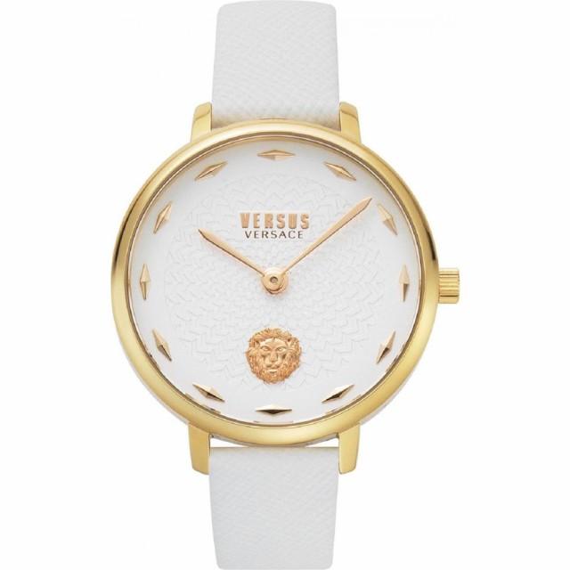 【予約販売品】 ヴェルサーチ VERSUS VERSACE 腕時計 レディース 腕時計 La VERSACE Watch, Villette Leather Strap Watch, 36mm White/Gold, ブックセンター多可:31f6e0bd --- eu-az124.de