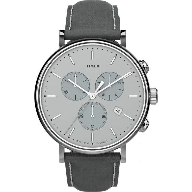 新品入荷 タイメックス TIMEX Fairfield メンズ Strap 腕時計 クロノグラフ クロノグラフ Fairfield Chronograph Leather Strap Watch. 41mm Grey/Silver, 大分県椎茸農業協同組合:d21106e6 --- kzdic.de