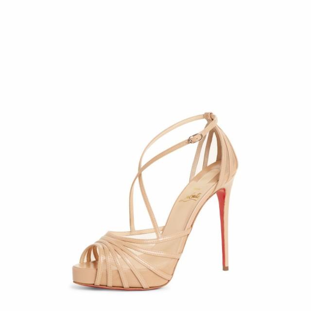 【お年玉セール特価】 Sandal Strappy レディース Nude Filamenta サンダル・ミュール Platform LOUBOUTIN ルブタン CHRISTIAN クリスチャン シューズ・靴-靴・シューズ