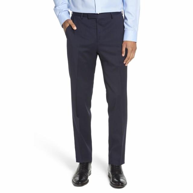 【予約】 ヒューゴ ボス BOSS ヒューゴ メンズ スラックス ボス ボトムス・パンツ Front Leenon Flat Front Straight Leg Solid Wool Dress Pants Navy, CanWebShop:c0f70829 --- united.m-e-t-gmbh.de