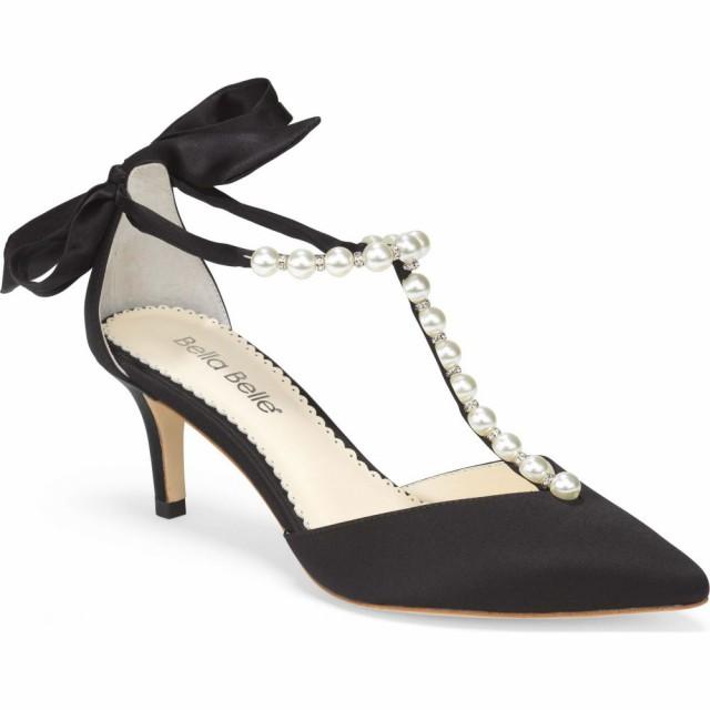 最新発見 ベラベル BELLA BELLE レディース パンプス シューズ・靴 Bella Bella Lisa Embellished T-Strap Pump Black Silk, LIFE MARKET 暮らし収納お洗濯 acb6a653