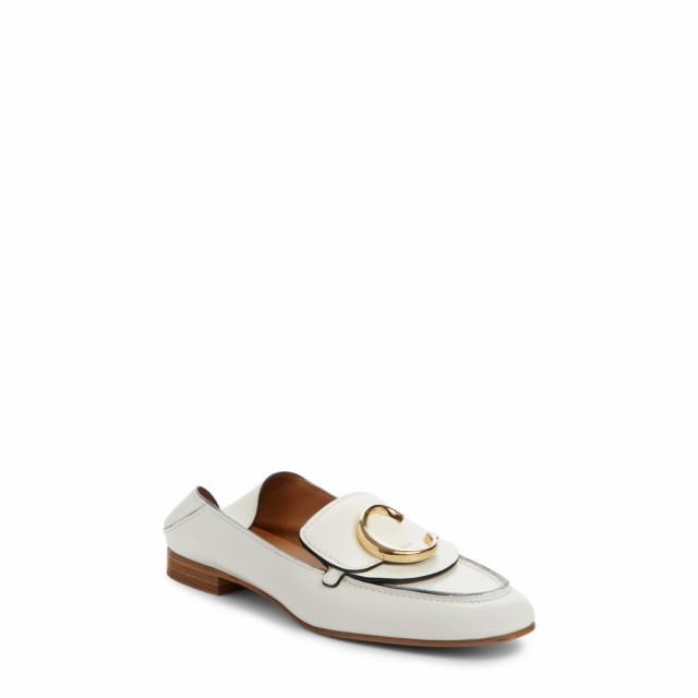 【期間限定】 クロエ CHLOE レディース ローファー・オックスフォード シューズ・靴 Story Convertible Loafer White Leather, カメダグン bfa4c527