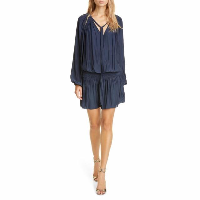 激安 ロミー ブルック RAMY BROOK レディース ワンピース ワンピース・ドレス Paris Long Sleeve Tie Neck Dress Navy, G専門店 G-SUPPLY(ジーサプライ) 2cfa0dc6