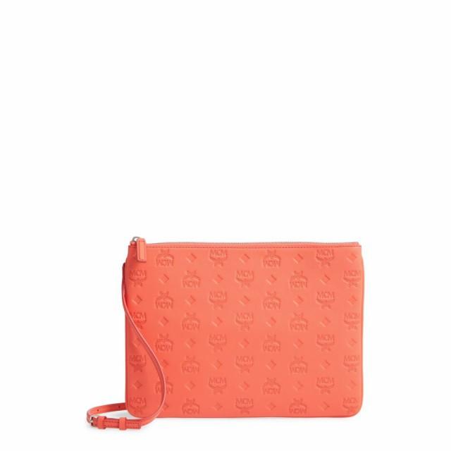 超高品質で人気の エムシーエム MCM レディース レディース ショルダーバッグ Pouch バッグ Klara Monogram Calfskin Leather Calfskin Crossbody Pouch Hot Coral, AMITY:e564742d --- chevron9.de