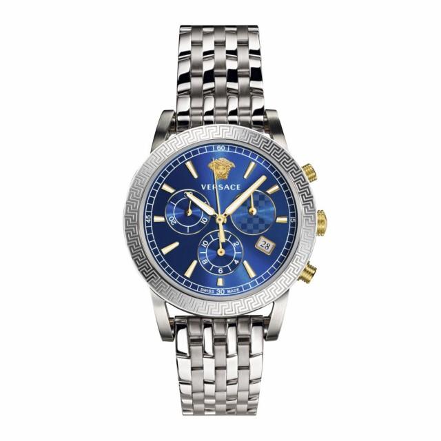 【未使用品】 ヴェルサーチ VERSACE ユニセックス 腕時計 ヴェルサーチ Sport Tech Bracelet Chronograph VERSACE Bracelet Watch, 40mm Silver/Blue/Silver, 葵書林:047eb44b --- ai-dueren.de