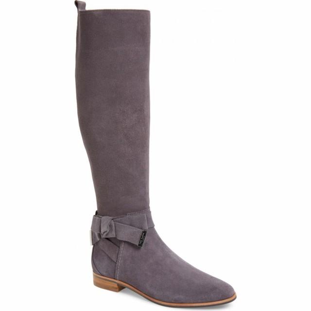 超可爱の テッドベーカー ブーツ TED BAKER LONDON シューズ・靴 レディース ブーツ ロングブーツ シューズ Boot・靴 Sintial Knotted Strap Knee High Boot Charcoal, 日本製ショーツ下着のMaruki:b15b86e8 --- 1gc.de