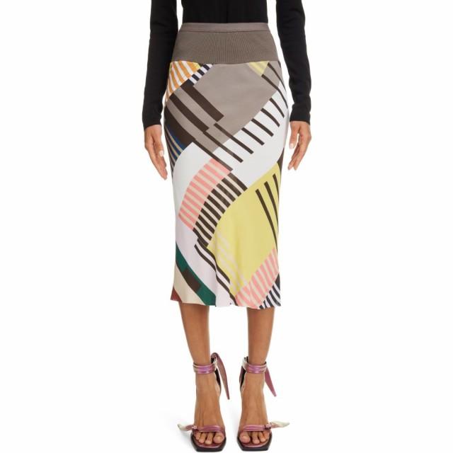 見事な創造力 リック オウエンス RICK OWENS レディース ひざ丈スカート ペンシルスカート スカート Geo Print Crepe Pencil Skirt Uxmal Print, 越後まるいち 9194b8e7
