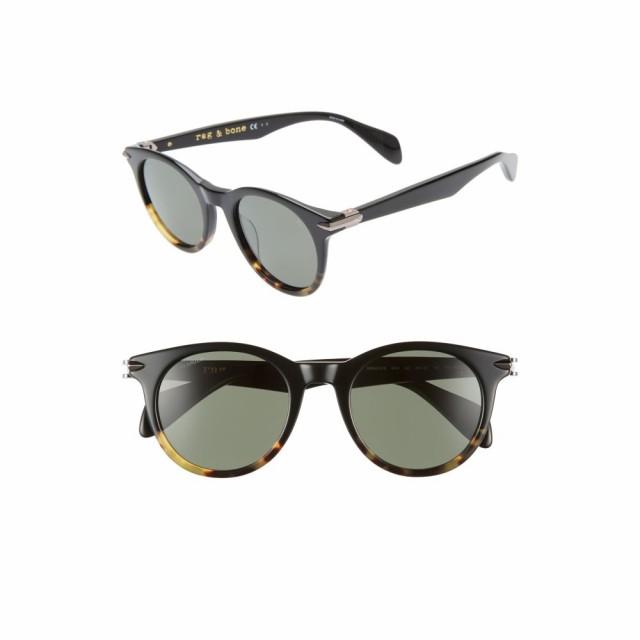 春夏新作モデル ラグandボーン RAG and BONE レディース メガネ・サングラス ラウンド 49mm Polarized Round Sunglasses Black/Havana, MamaとBabyの専門店*ベビーオグ* b43d3fb5