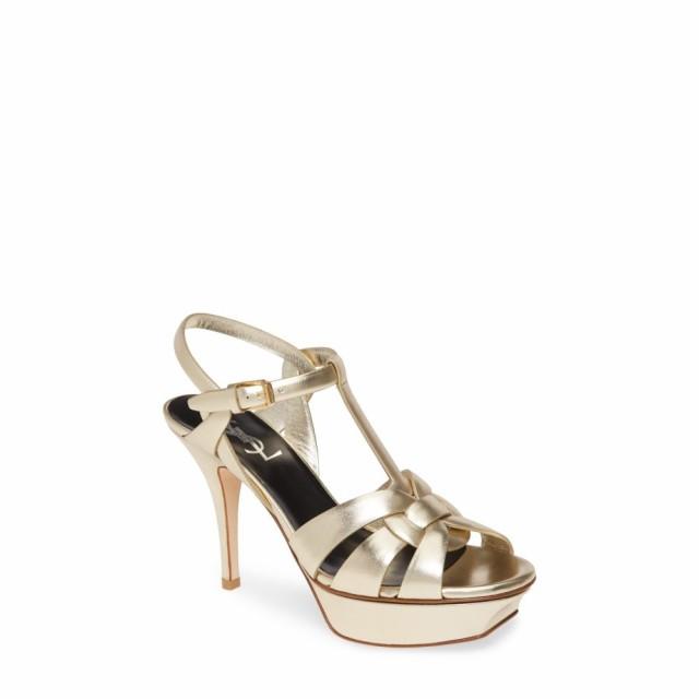 最安 イヴ レディース サンローラン SAINT Tribute LAURENT レディース サンダル・ミュール シューズ SAINT・靴 Tribute Metallic Platform Sandal Platino, ヒガシムラ:d17c1b0f --- kzdic.de