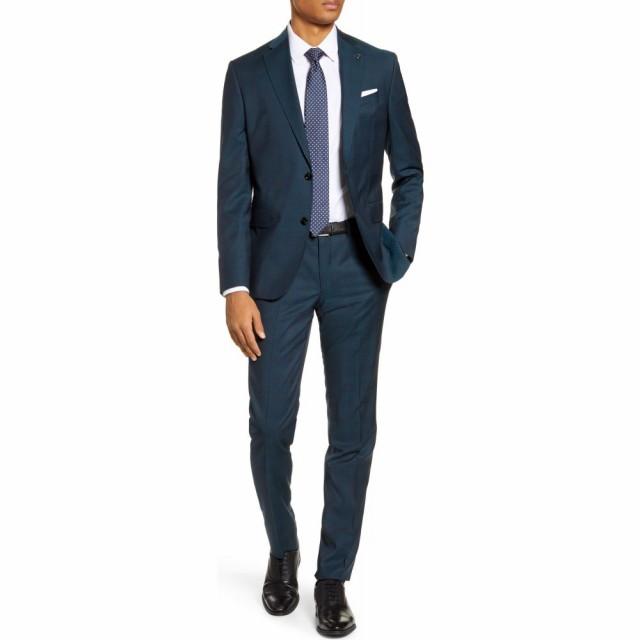 【再入荷!】 テッドベーカー TED BAKER LONDON メンズ スーツ・ジャケット アウター Roger Slim Fit Plaid Wool Suit Blue/Green, 農援 489498b3