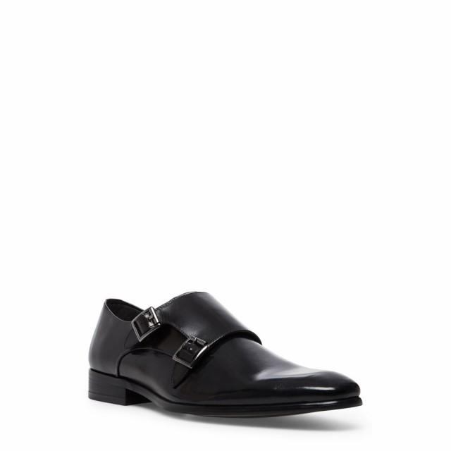 入園入学祝い スティーブ マデン STEVE MADDEN メンズ 革靴・ビジネスシューズ シューズ・靴 Beaumont Double Monk Strap Shoe Black Leather, ココチモの通販ショップ 03c7576f