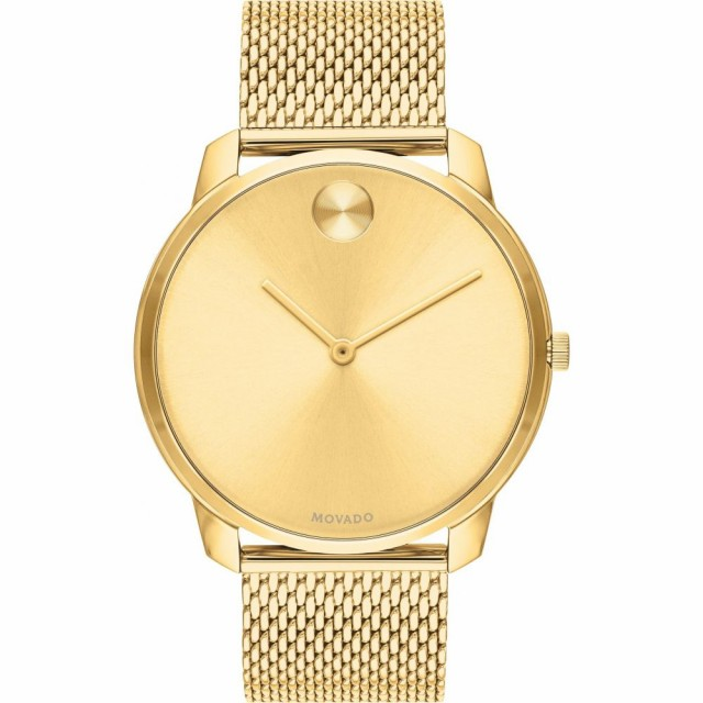 新しい モバード MOVADO メンズ 腕時計 Bold Mesh Bracelet Watch, 42mm Gold, 矢部町 71a10048