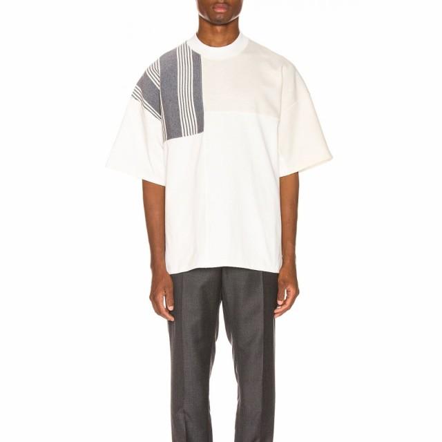 【限定セール!】 ジル サンダー Jil Sander メンズ Tシャツ トップス Panels Tee Open White, 文具の森 514f5858