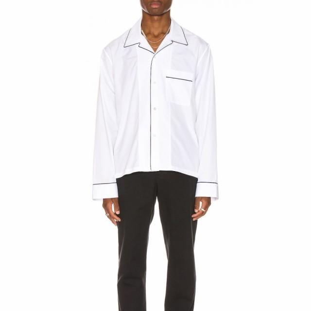 2019公式店舗 メゾン Sleeve トップス シャツ Long White メンズ Maison Shirt Margiela マルジェラ-トップス