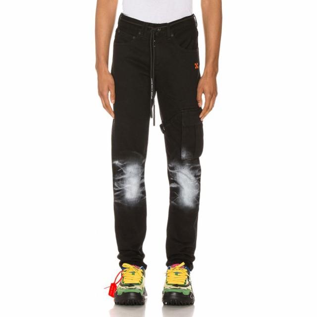 日本製 オフホワイト OFF-WHITE メンズ ジーンズ・デニム OFF-WHITE ボトムス オフホワイト・パンツ メンズ Slim Asymmetric Jeans Black, ROSARY QUEEN【ロザリークイーン】:a11aae3e --- 1gc.de