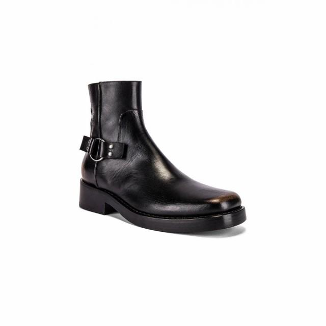 最新 ラフ メンズ シモンズ Raf Simons メンズ ブーツ Simons シューズ High・靴 High Sole Strap Boot Black, 眠りの森 たんごや:de816583 --- zafh-spantec.de