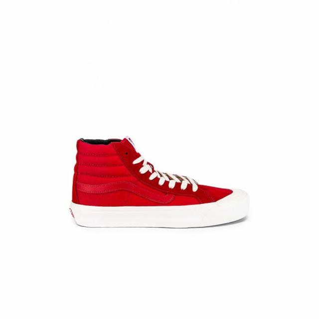 男女兼用 バンズ ボルト Vans Vault メンズ スニーカー シューズ・靴 OG Style 138 LX Racing Red/Checkerboard, 七山村 0646f60a