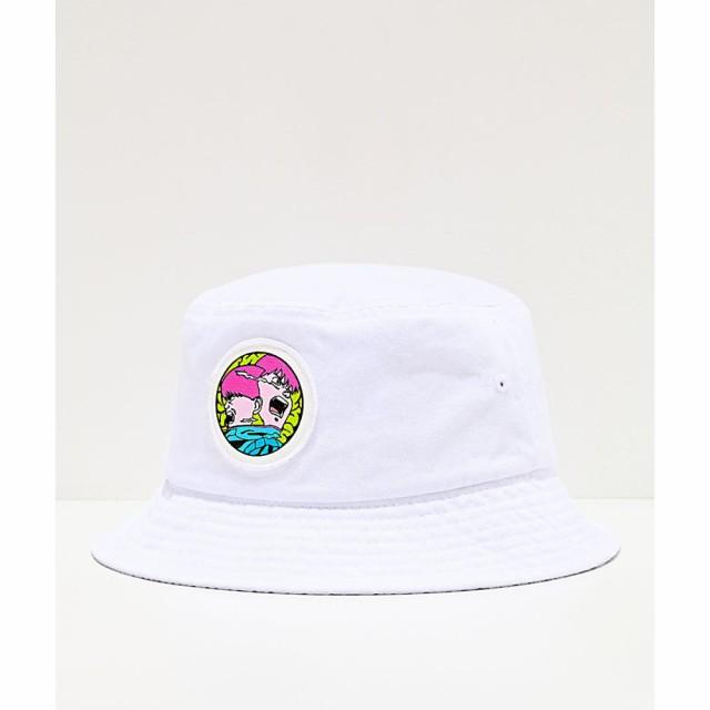 ドリームボーイ DREAMBOY レディース ハット バケットハット 帽子 Dreamboy Meltdown White Bucket Hat White