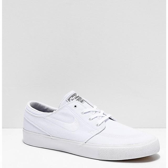 【スーパーセール】 ナイキ NIKE SB メンズ シューズ・靴 スケートボード Nike SB Janoski RM White Canvas Skate Shoes White, 貝塚市 a4a75e20