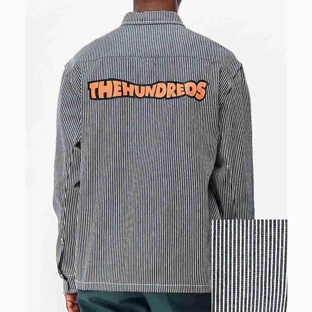完成品 ザハンドレッズ THE HUNDREDS メンズ ジャケット アウター roosevelt blue and white striped jacket White, フローレスダイヤ 6c27746c