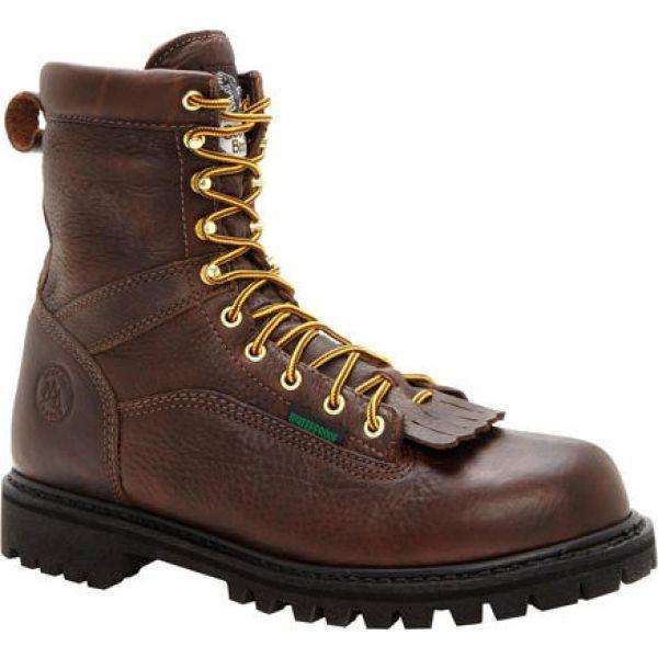 買い保障できる ジョージアブーツ Georgia Boot メンズ ブーツ シューズ・靴 G8341 Steel Toe 8 Heritage Vibram Boot Tumbled Chocolate, おかやまけん 793855f4