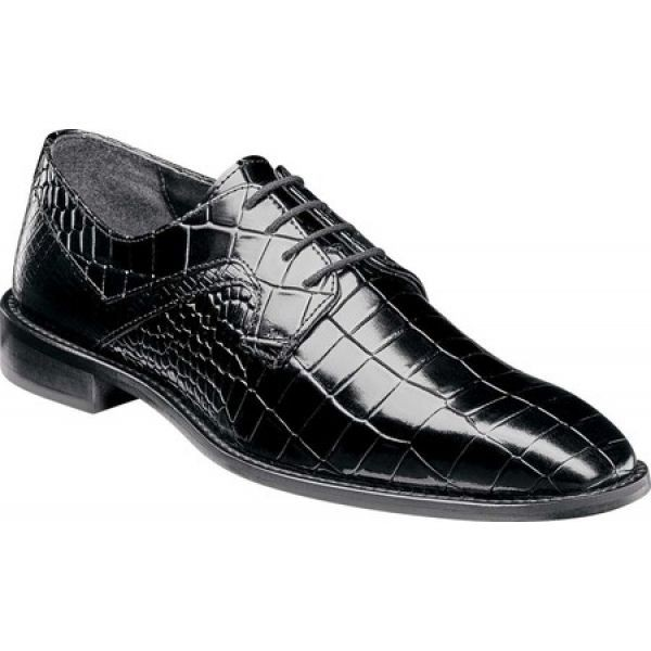 リアル ステイシー アダムス Oxford Stacy Adams メンズ Triolo 革靴・ビジネスシューズ シューズ Stacy・靴 Triolo Oxford Black Croco/Lizard Print, SAS:129cdbcb --- kzdic.de