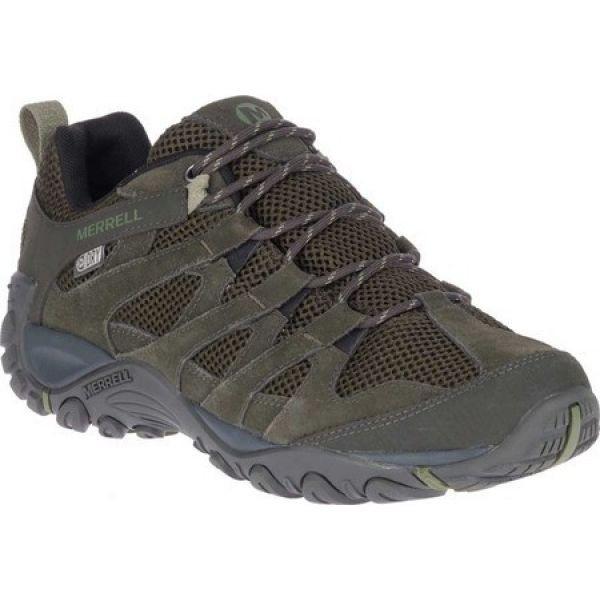 【お買得!】 メレル Merrell メンズ ハイキング・登山 ブーツ シューズ・靴 Alverstone Waterproof Hiker Boot Olive Suede/Mesh, 朝日町 754a64bd