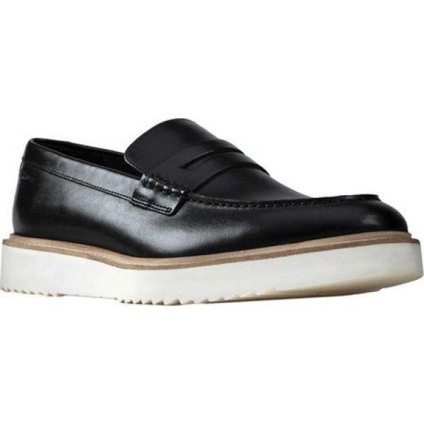 【2019春夏新作】 Black シューズ・靴 Penny Free ローファー Clarks Loafer クラークス メンズ Ernest-靴・シューズ