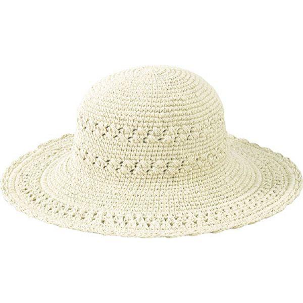 サンディエゴハット San Diego Hat Company レディース ハット ブリムハット 帽子 Cotton Crochet Hat Large Brim CHL1 Natural