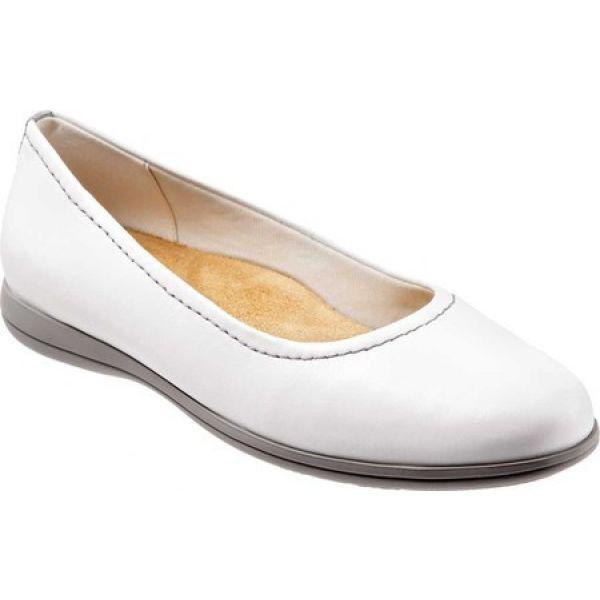 お買い得モデル トロッターズ Trotters レディース スリッポン・フラット Ballet バレエシューズ シューズ・靴 Darcey トロッターズ Flat Ballet Flat White, 足助町:849fec47 --- kulturbund-sachsen-anhalt.de