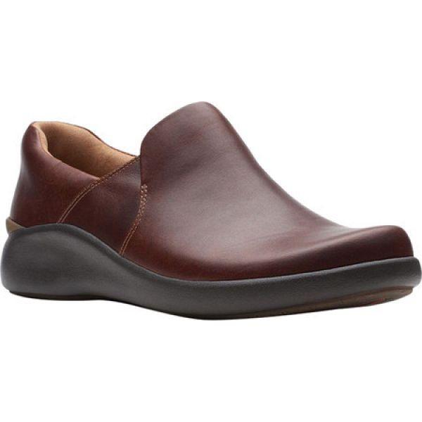 特別セーフ クラークス Clarks レディース ローファー・オックスフォード シューズ・靴 Un.Loop 2 Step Loafer Dark Tan, アンパチチョウ 044b6539