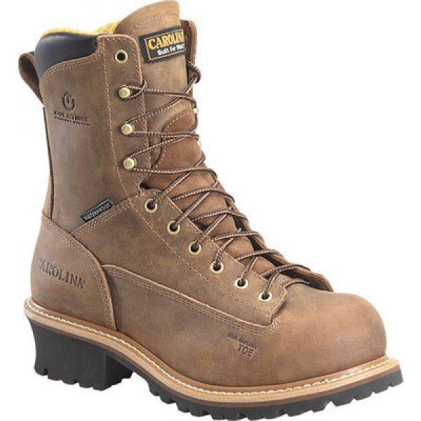 【最安値挑戦!】 カロリナ Carolina メンズ シューズ・靴 CA9828 Dark 8 Crazy Driller WP Lace to Toe WP Comp Toe Logger Dark Brown Crazy Horse Leather, CLOSPOT:5216616d --- kleinundhoessler.de