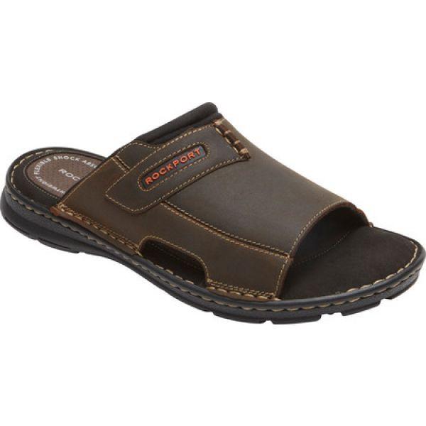 当店の記念日 ロックポート Rockport 2 メンズ サンダル シューズ・靴 Rockport Darwyn Slide 2 Slide Brown II, ガーデンマート:a090b282 --- kulturbund-sachsen-anhalt.de