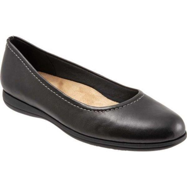 【正規取扱店】 Flat Trotters トロッターズ Ballet スリッポン・フラット バレエシューズ レディース Darcey シューズ・靴 Black-靴・シューズ
