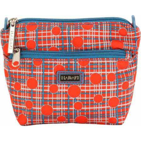 カレンコム Hadaki by Kalencom レディース ポーチ 化粧ポーチ Double Zip Cosmetic Bag Fiery Red Plaid