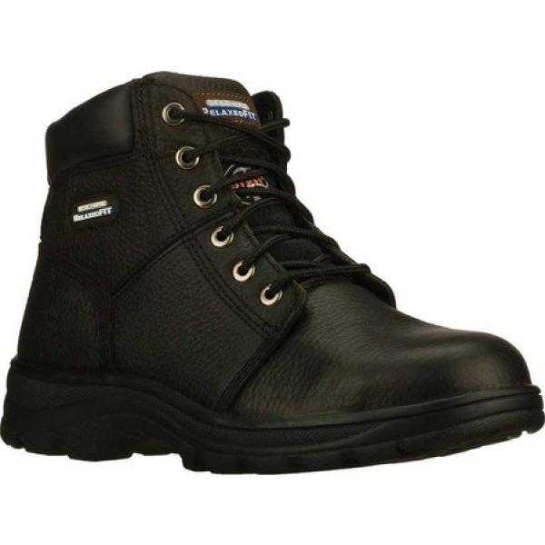 素敵な スケッチャーズ Skechers メンズ シューズ・靴 Work Relaxed Fit Workshire Steel Toe Black, JESMO 07e1bd06
