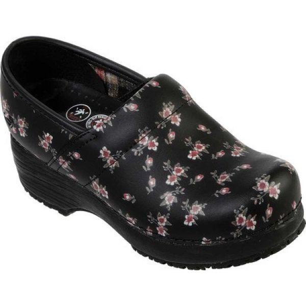 世界的に有名な スケッチャーズ Skechers レディース Skechers クロッグ シューズ Shoe Slip・靴 Work Clog Slip Resistant Shoe Black/Pink, フランスベッド専門販売店 こみち:ef1edbda --- 1gc.de