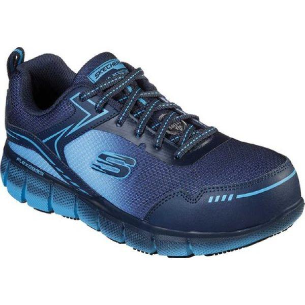 【返品不可】 スケッチャーズ Skechers レディース スニーカー シューズ・靴 Work Telfin Arterios Alloy Toe Sneaker Navy/Blue, タイシンムラ 31023fa5
