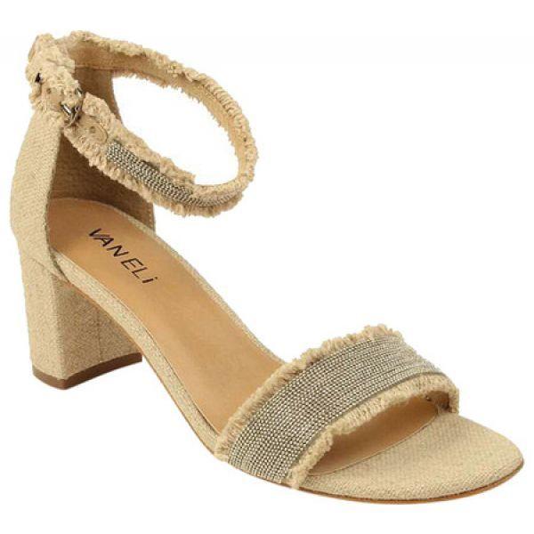 格安人気 ヴァネリ VANELi レディース サンダル・ミュール アンクルストラップ シューズ・靴 Merida Ankle Strap Sandal Natural Canvas/Silver Ch, ChanluuJapan公式オンラインサイト cbdcffa0