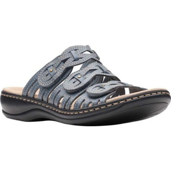 【はこぽす対応商品】 クラークス Clarks レディース サンダル・ミュール Slide シューズ レディース・靴 Clarks Leisa Faye Slide Blue Grey, neneno -ネネノ インテリア-:53b2b53c --- kiefferpartner.de
