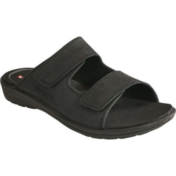 【メーカー公式ショップ】 Comfort Black シューズ・靴 Sandal Durban スライドサンダル Shoes Slide Adjustable Revere Oiled リビアコンフォート メンズ サンダル-靴・シューズ