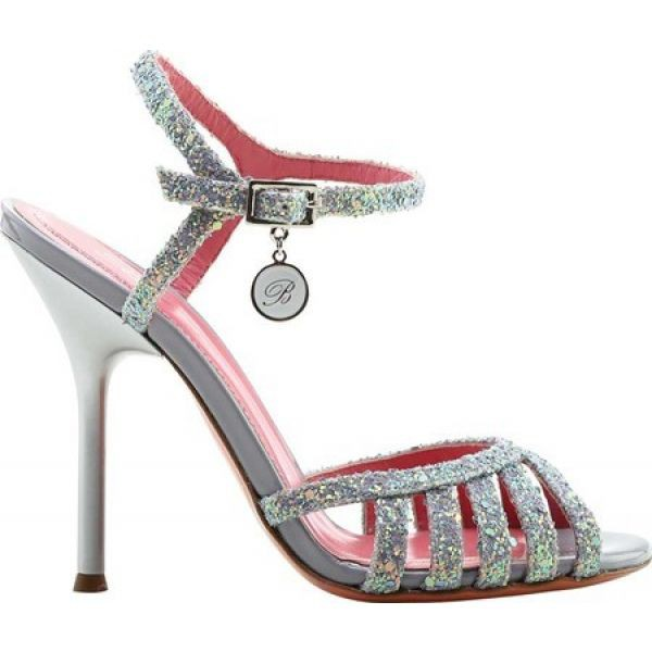【美品】 ブルマリン Blumarine レディース サンダル・ミュール アンクルストラップ シューズ・靴 Sandalo Ankle Strap Sandal Silver, オフィスエクスプレス 7d049ede