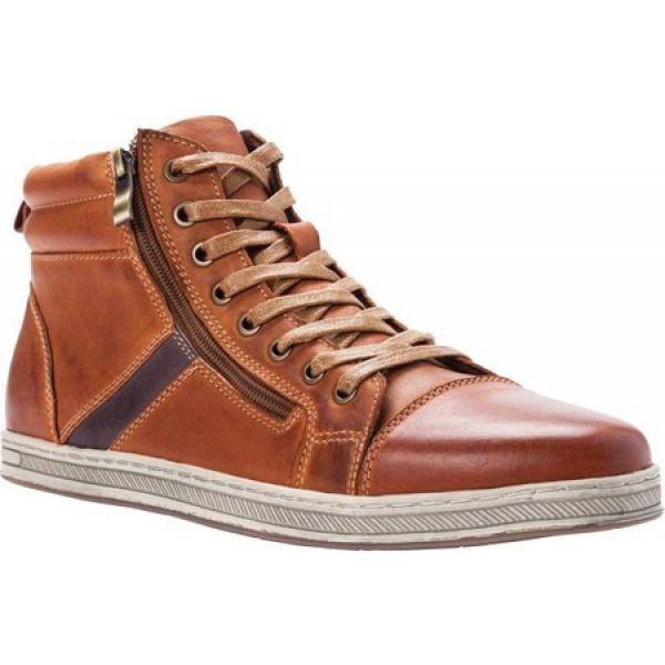 【メーカー包装済】 プロペット Propet メンズ スニーカー シューズ・靴 Lucas Hi Sneaker Tan Burnished Waxy Nubuck, 伊勢鳥羽志摩特産横丁 87464ac7