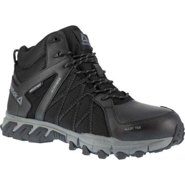 【本物新品保証】 リーボック Reebok Work メンズ ブーツ ワークブーツ シューズ・靴 Trailgrip Work RB3401 Alloy Toe Boot Black/Grey Synthetic, ニシハルチョウ 9e999d3d